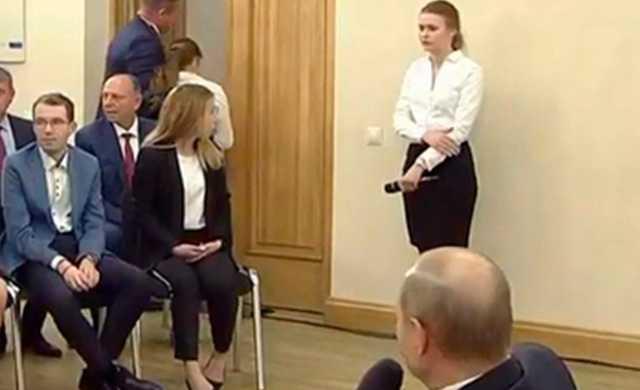 Песков назвал причину потери девушкой сознания на встрече с Путиным