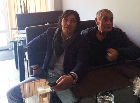 Слева воры в законе: Темур Гвасалия (Темо Маколя) и Борис Апакия (Боря Апакела)